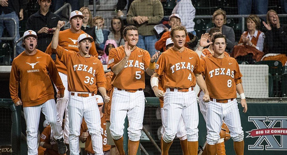 Madison Carter broke a 2-2 tie in the top of the 12th inning with a two-out, two-run single to right field, and the No. 12/15 Texas baseball team defeated Texas Tech 5-2 Sunday afternoon.