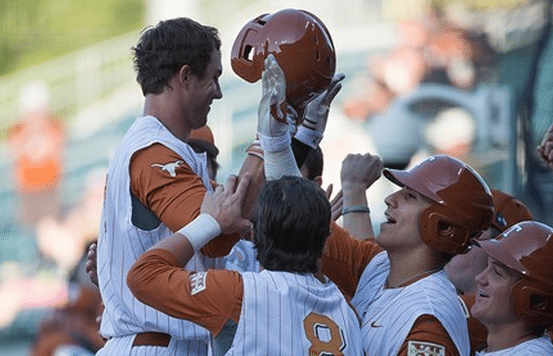 Ben Johnson celebrates his fourth home run of the season a two run shot in the third. (Photo: courtesy UT Athletics Photography)