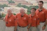 Billy Maxwell (second from left) will be inducted into the USTFCCCA Hall of Fame. (Image via TexasSports.com)