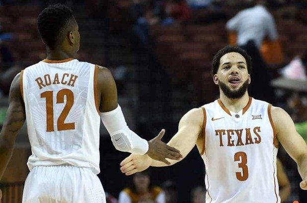 Guard Javan Felix (3) led the Longhorns with a game-high 20 points in UT's 69-59 win over Texas Tech (photo courtesy of texassports.com).