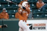 An error in the seventh inning by right fielder Patrick Mathis led to the deciding run in the UT baseball team's 4-2 home loss Tuesday to Texas State (photo courtesy of texassports.com).