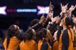 The University of Texas women's basketball has a rich tradition, and now boasts an assistant coach in Tina Thompson who was named one of the 20 greatest players in WNBA history (photo courtesy of texassports.com).