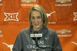 Women's basketball head coach Karen Aston will guide the Longhorns through a non-conference schedule feature six teams that made it to the Sweet 16 in last year's NCAA Tournament (photo courtesy of texassports.com).