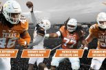 A quartet of Longhorns earned preseason All-Big 12 honors, highlighted by sophomore linebacker Malik Jefferson, who was voted the conference's preseason Defensive Player of the Year (graphic courtesy of texassports.com).