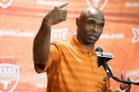 Texas football head coach Charlie Strong said the Longhorns will need three quarterbacks who can play, if called upon, during the upcoming season (photo courtesy of texassports.com).