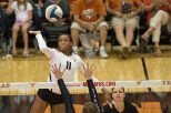 A year after reaching the NCAA championship game, 	Chiaka Ogbogu and the Texas Longhorns have been picked second in the AVCA's national preseason poll (photo courtesy of texassports.com).