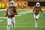 Running back Chris Warren III led the Texas ground game with 95 rushing yards and a touchdown as the Longhorns cruised past UTEP, 42-7, in their second victory in as many games (photo courtesy of texassports.com).