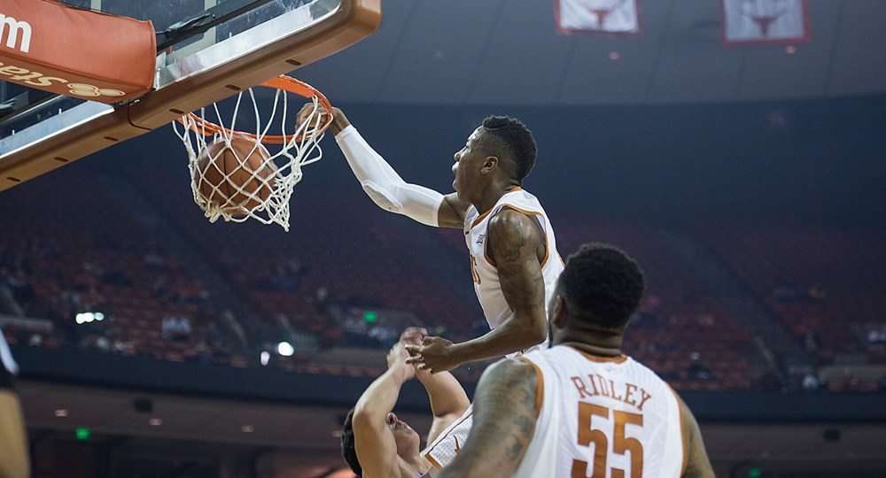 Guard Kerwin Roach, Jr., threw down a team-leading 16 points, but the Texas men's basketball team fell, 68-56, to Colorado in the Legends Classic (photo courtesy of texassports.com).