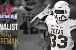 D'Onta Foreman back leads the nation in rushing (1,863 yards; 186.3 ypg) and is one of three finalists for nation's best running back.