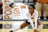 Setter Chloe Collins and the Texas volleyball team will host UT-Rio Grande Valley Friday in the first round of the NCAA Tournament (photo courtesy of teaxssports.com).