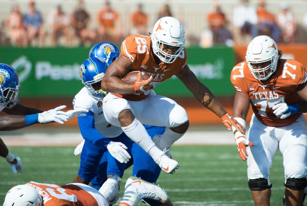 Chris Warren III vs SHSU, September 09, 2017 (Photo Jesse Drohen).