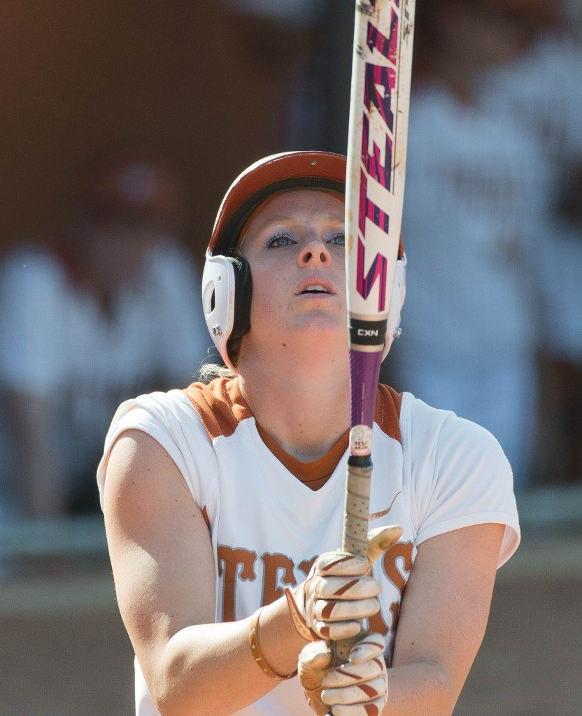 Taylor Thom at the plate against Oklahoma State on Fri April 25, 2014. (photo: Jesse Drohen)