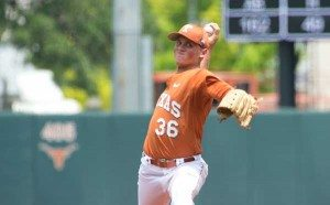 Nathan Thornhill pitched an outstanding game versus Vanderbilt on Friday. Photo: Jim Sigmon/Univ. Of Texas