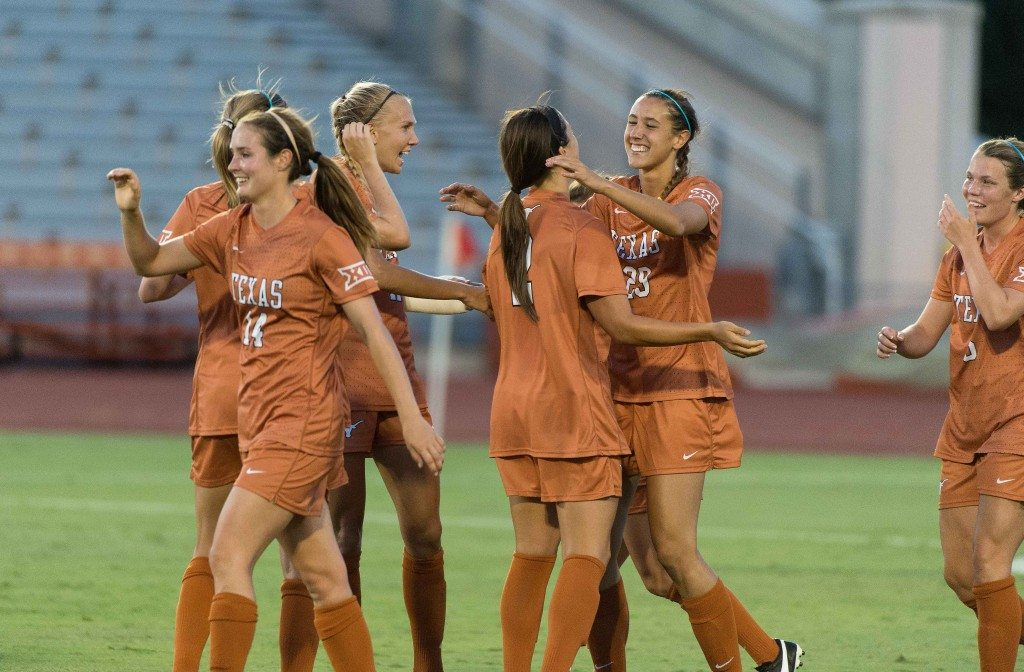Texas Women's Soccer on 08-15-2014 against Incarnate World (photo: Jesse Drohen)