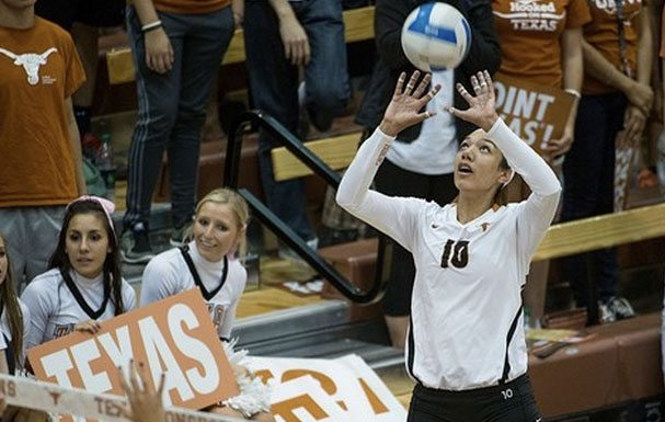 Texas outside hitter haley Eckerman (Photo: courtesy Texassports.com).