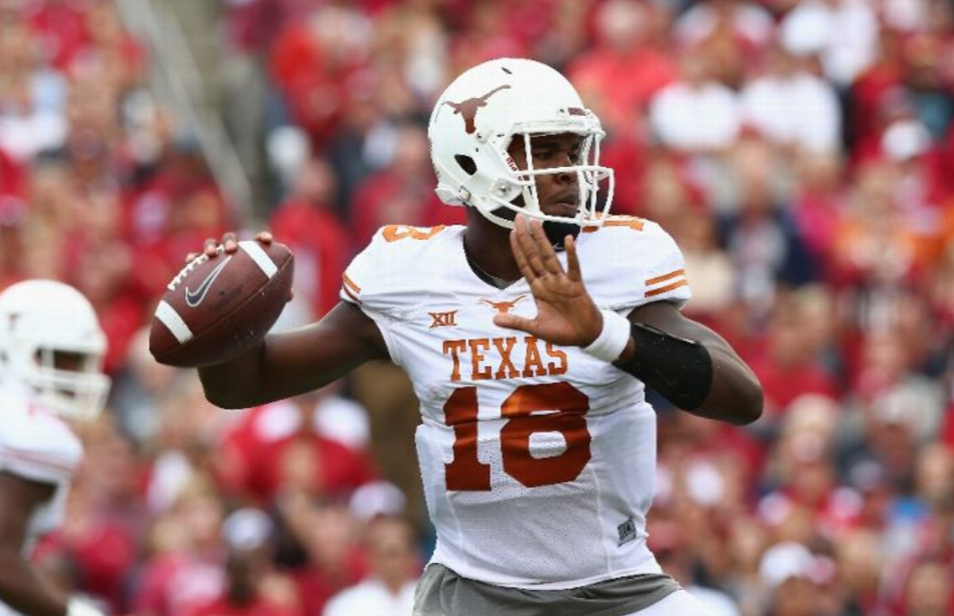 Swoopes completed 27 of 44 passes for 334 yards against Oklahoma, the most yards he's thrown for since becoming a starter. (Photo by Ronald Martinez/Getty Images)