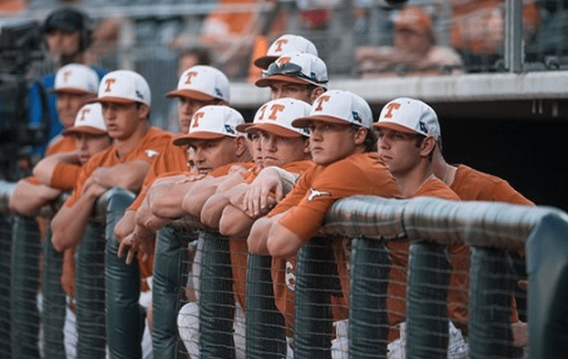 The Texas baseball team looked on as A&M Corpus Christi took an early 3-0 lead (Photo: Courtesy UT Athletics Photography).