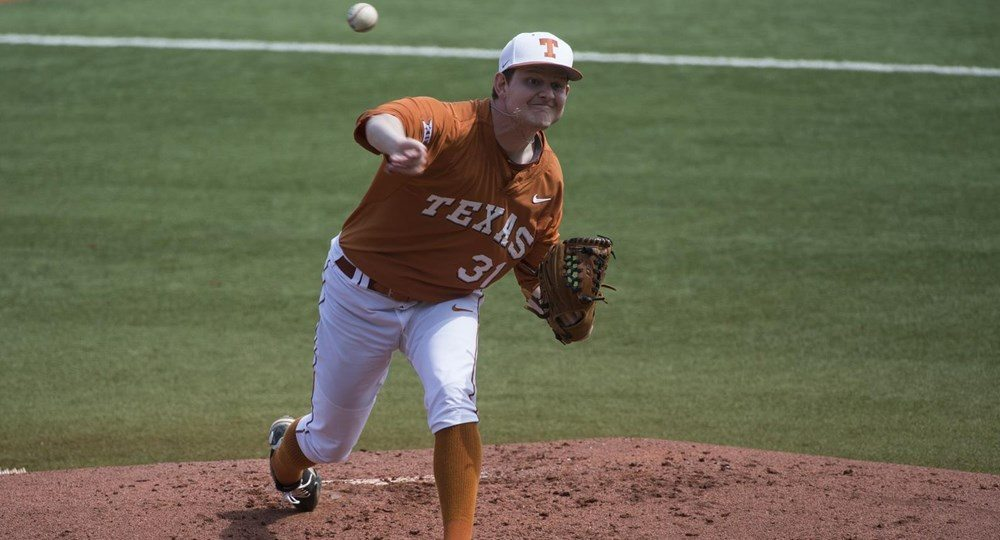 Chad Hollingsworth pitching against West Virginia (Photo: UT Athletics Photography).
