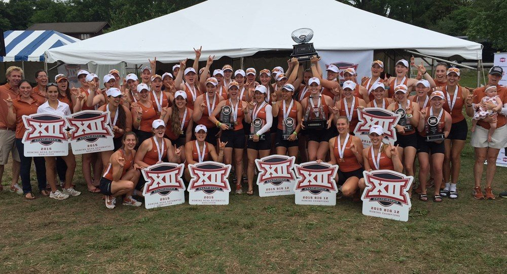 (Image via TexasSports.com) No. 11 Texas Rowing Wins Big 12 Title, Qualifies for NCAA Championships