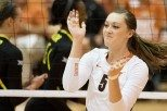 Texas volleyball player Molly McCage
