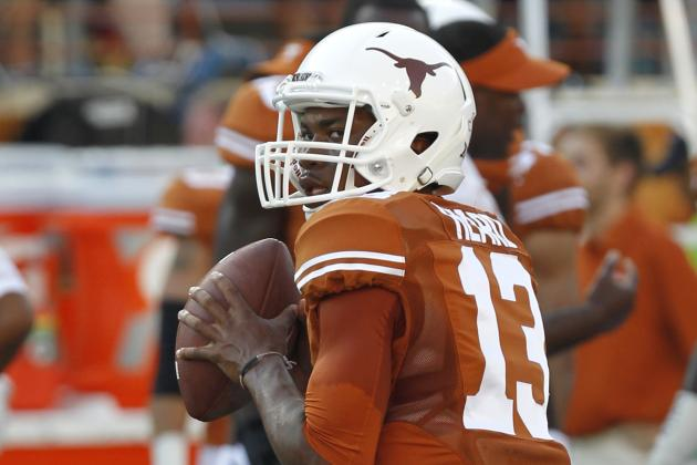 Redshirt freshman Jerrod Heard provided a lot of reasons for optimism among Longhorn fans in his debut as UT's starting quarterback (Chris Covatta/Getty Images).