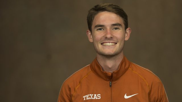 Connor Hendrickson was named Big 12 Runner of the Week after leading the Texas cross country team to a sweep of the top seven finishes at the Texas Invitational (photo courtesy of texassports.com).