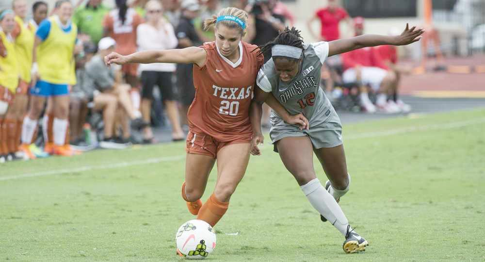Freshman forward scored her third goal of the season in the Longhorns' 2-1 home loss to Baylor (photo courtesy of texassports.com).