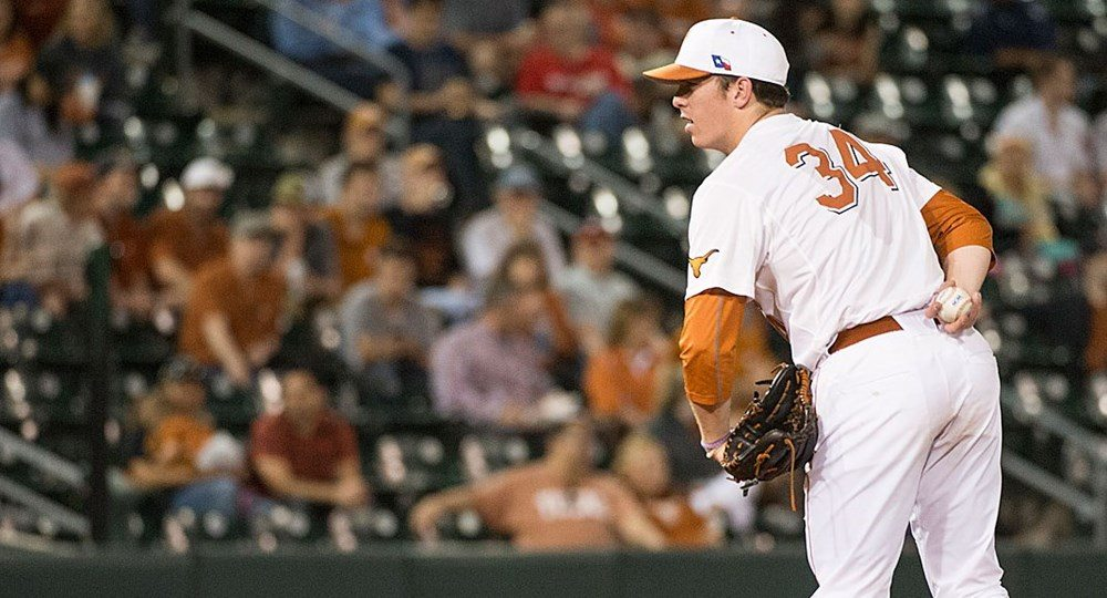 Sophomore Kyle Johnston appears able to succeed as a starter after serving as a reliever last year in his first season at UT (photo courtesy of texassports.com).