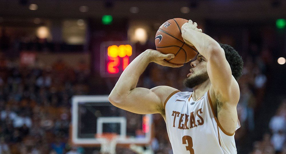 Guards Javan Felix (3) and Tevin Mack scored 18 points apiece in UT's 85-75 loss at Iowa State (photo courtesy of texassports.com).