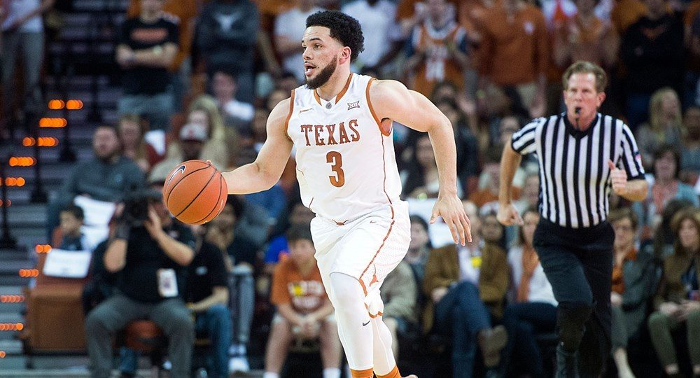 Guard Javan Felix scored a team-high 13 points, but was the only Longhorn to score in double figures in UT's 86-56 loss to Kansas (photo courtesy of texassports.com).