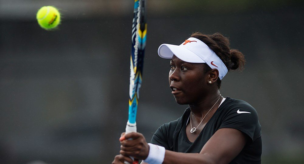 Two-time All-America Breaunna Addison and sophomore Dani Wagland won in singles and doubles to help lift the University of Texas women's tennis team to a 4-3 victory over No. 4 Michigan (photo courtesy of texassports.com).