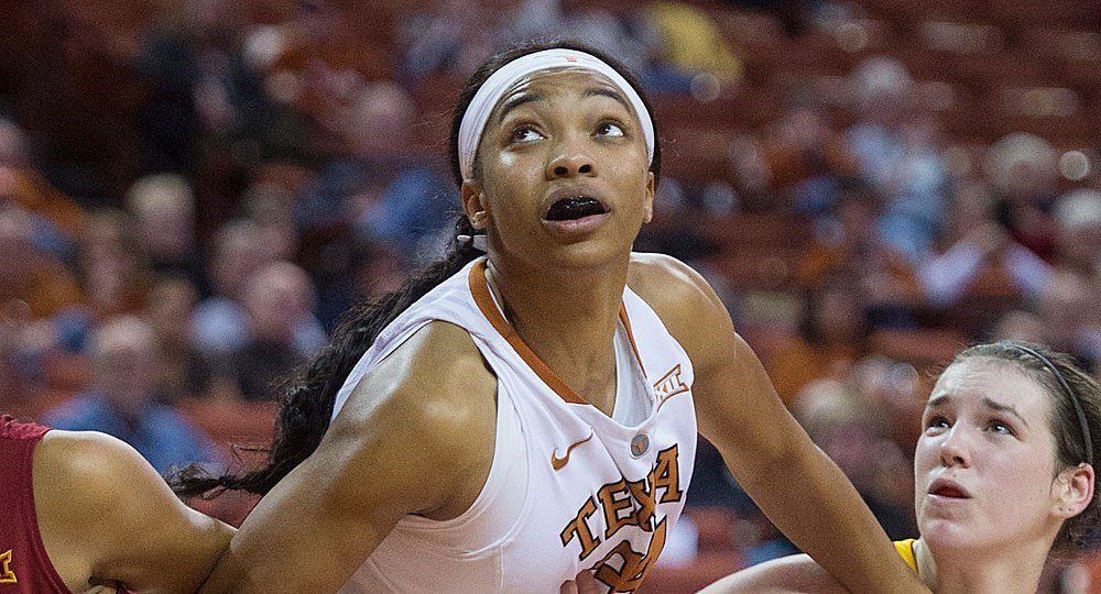 Former Texas center Imani Boyette was drafted two weeks ago by the Women's National Basketball Association's Chicago Sky (photo courtesy of texassports.com).