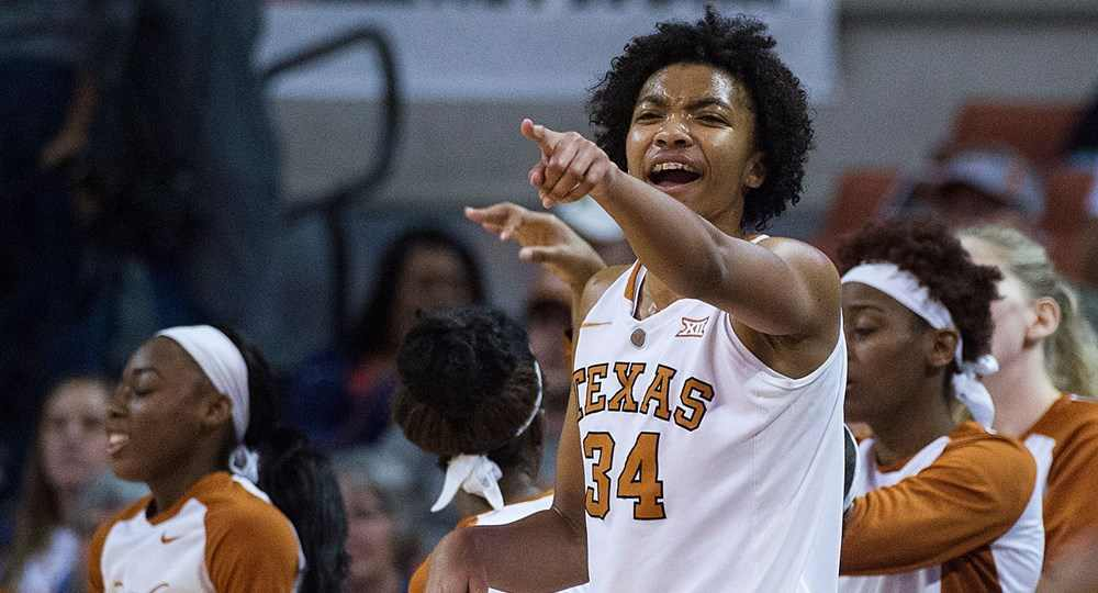 Center Imani Boyette became the fourth player in the history of University of Texas women's basketball history to get chosen in the first round of the WNBA Draft when she was picked by the Chicago Sky (photo courtesy of texassports.com).