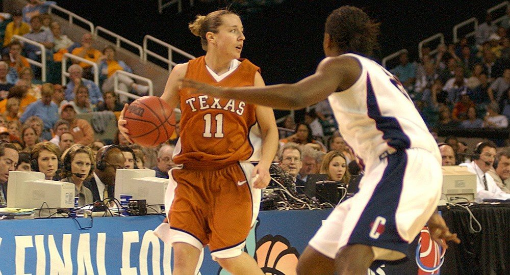 Former star Texas guard Jamie Carey returns to her alma mater as an assistant coach under women's basketball head coach Karen Aston (photo courtesy of texassports.com).