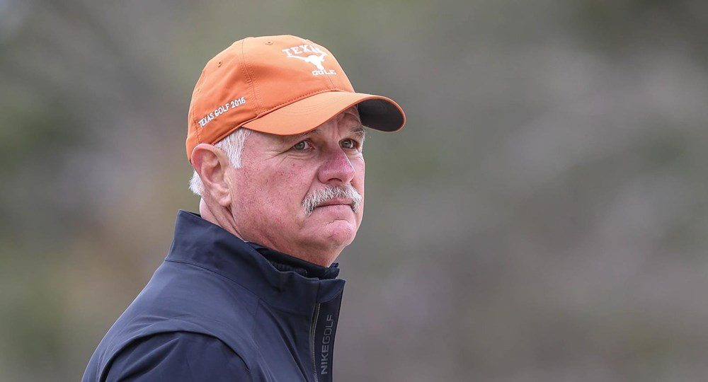 This season's Big 12 Coach of the Year, Texas men's golf head coach John Fields is a finalist for the Dave Williams National Coach of the Year Award (photo courtesy of texassports.com).
