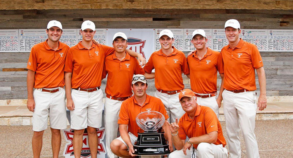 The Texas men's golf team crushed the Big 12 opposition, winning the conference championship by 26 strokes over runner-up Oklahoma State (photo courtesy of texassports.com).