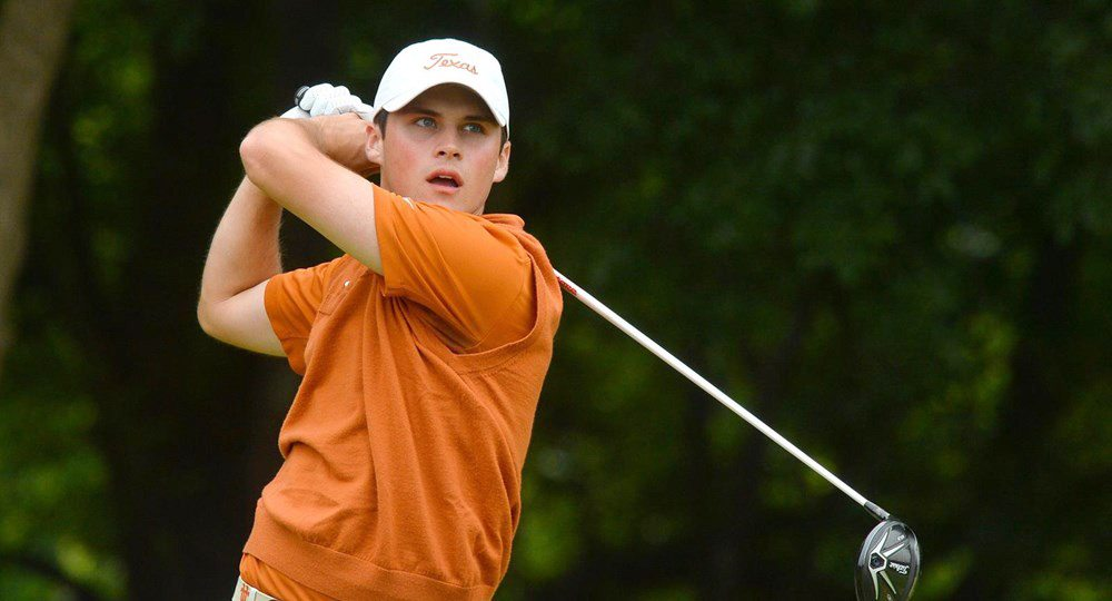 Junior Gavin Hall, above, and sophomore Doug Ghim earned second-team PING All-America honors after they helped lead the University of Texas to second place at the NCAA Championship (photo courtesy of texassports.com).