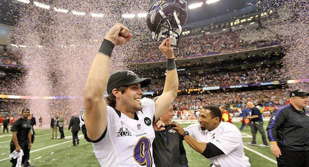 Former Texas kicker Justin Tucker's extension with the Baltimore Ravens included more guarantee than that included in the contract of all other kickers in NFL history (photo by Horns Illustrated).