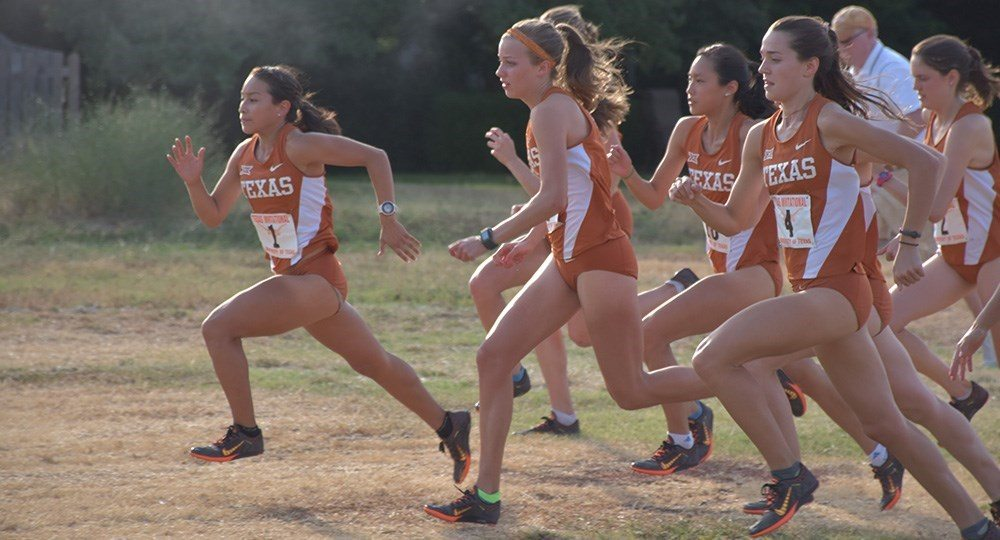 The Texas women's cross country team finished 16th at the Joe Piane Notre Dame Invitational (photo courtesy of texassports.com).