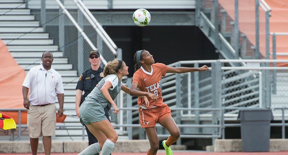 Sophomore forward Alexa Adams increased her team lead in goals to five, and points to nine, but the Longhorns fell, 2-1, to Ohio State (photo courtesy of texassports.com).