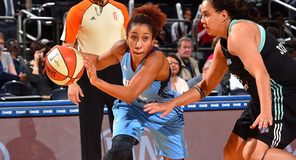 Former Texas women's basketball star Carla Cortijo and the Atlanta Dream will tip off against fellow Longhorn Imani Boyette's Chicago Sky in the WNBA playoffs Sunday (photo courtesy of texassports.com).