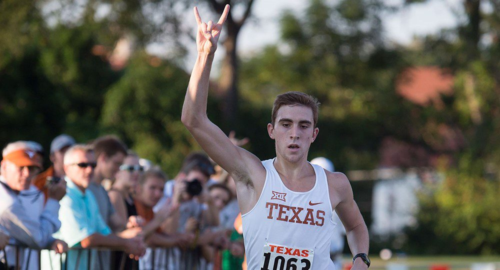 Texas cross country sophomore Alex Rogers was named the Big 12 Runner of the Week after cruising to a win in the Texas Invitational (photo courtesy of texassports.com).