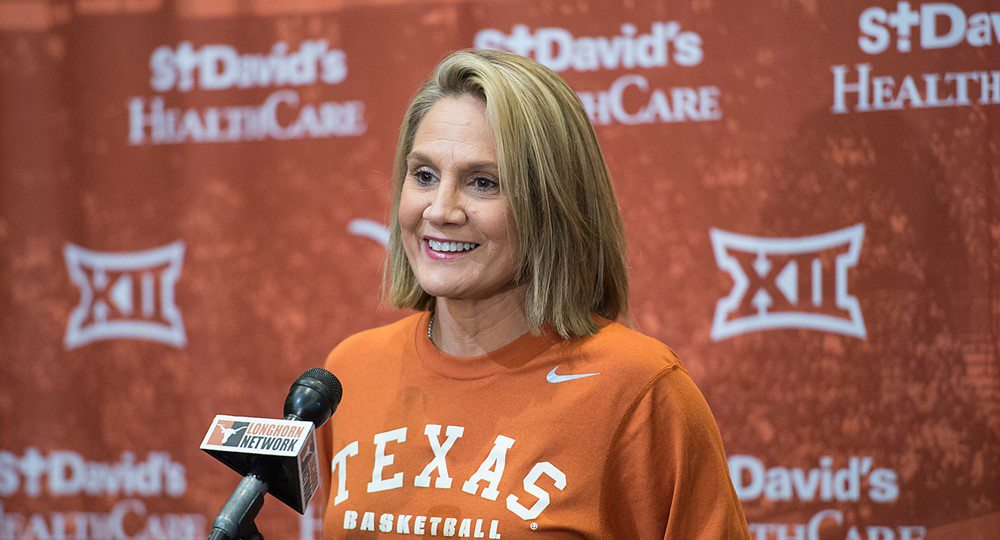 Texas women's basketball head coach Karen Aston got a significant addition for her team's backcourt when Chasity Patteron, rated by some as the top high school point guard in the country, signed a national letter-of-intent to play for the Longhorns (photo courtesy of texassports.com).