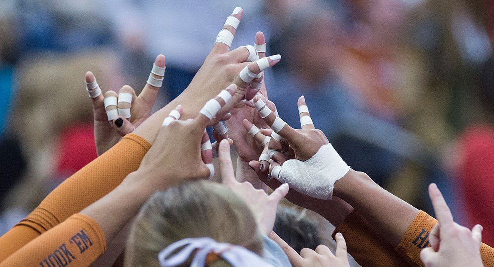 For the second time in as many seasons, the University of Texas volleyball team made it to the NCAA championship match ... and for the second time, the Longhorns came up short, this time falling in four sets to the Stanford Cardinal (photo courtesy of texassports.com).