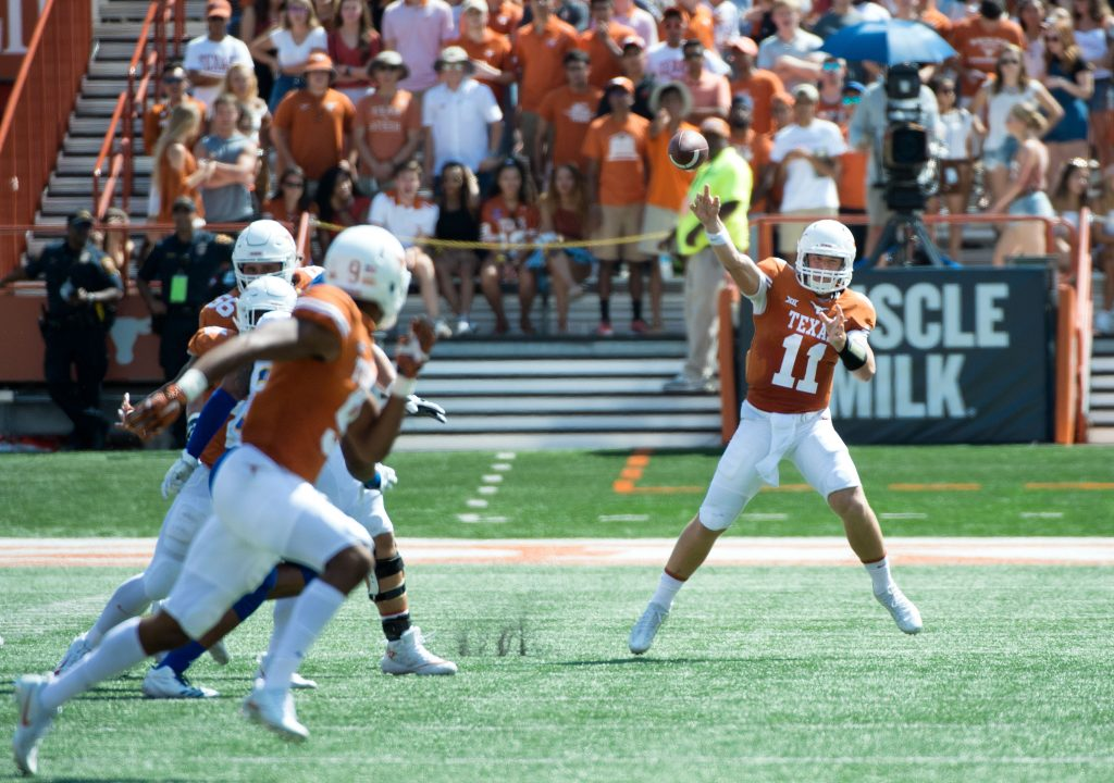 Sam Ehlinger vs SHSU, September 09, 2017.