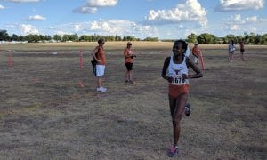 Destiny Collins running cross country.