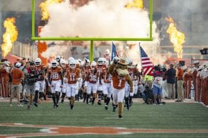 Texas takes the field