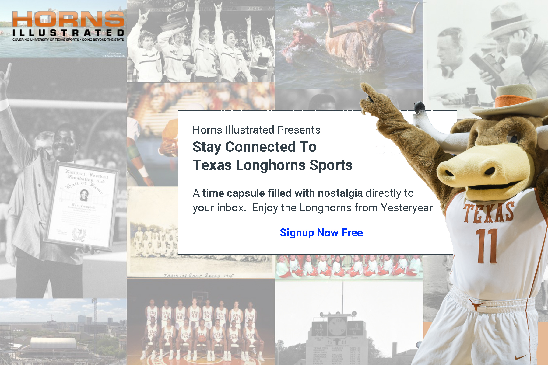 Texas Longhorns Sports Time Capsule