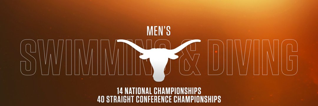 Texas Longhorns Men's Swimming & Diving Marquee