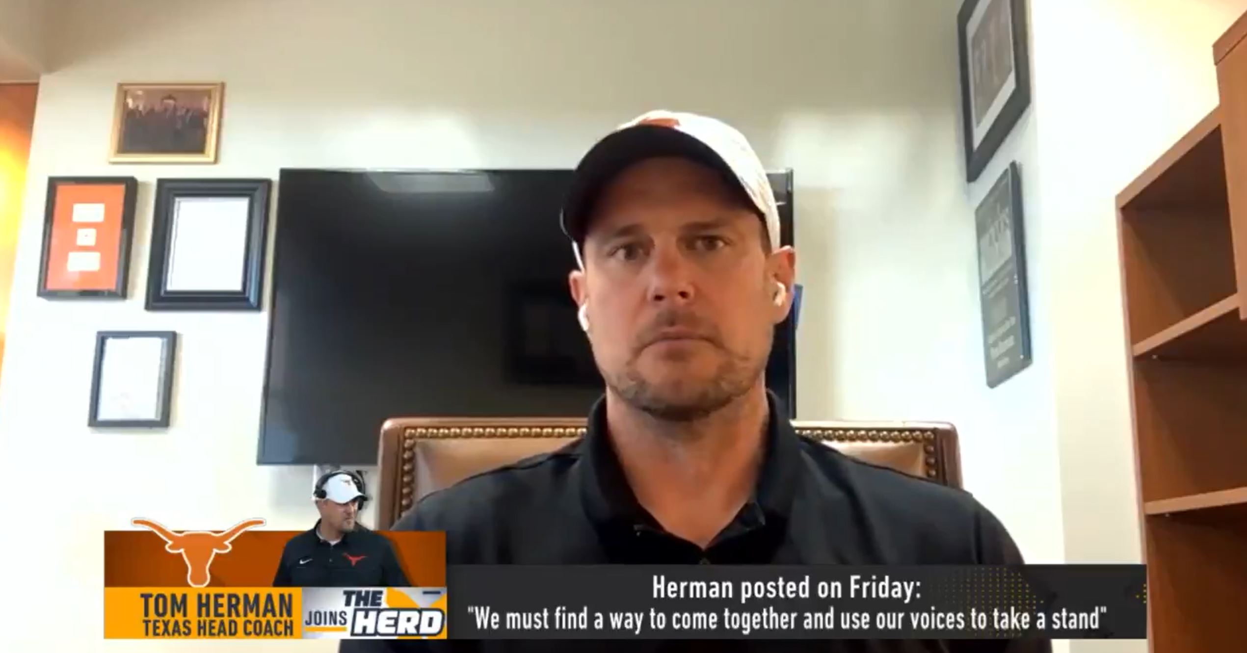 Texas Longhorns Coach Tom Herman Interview on The Herd with Colin Cowherd